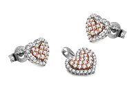 Diamantová súprava 0,720 ct Pink Heart DB0038S
