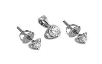 Diamantová súprava Alcarado white 0,170 ct KU103AS