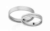Diamantové svadobné obrúčky 0,090 ct Yasmine diamonds 4 mm IZOBBR015A