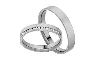Diamantové svadobné obrúčky 0,100 ct Yasmine diamonds 3,5 mm IZOBBR017A