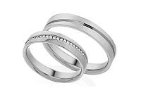 Diamantové svadobné obrúčky 0,120 ct Yasmine diamonds 4 mm IZOBBR001-4A