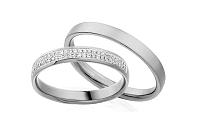 Diamantové svadobné obrúčky 0,130 ct Yasmine diamonds 3,5 mm IZOBBR008A