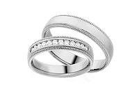 Diamantové svadobné obrúčky 0,240 ct Yasmine diamonds 4,5 mm IZOBBR010A