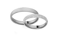 Diamantové svadobné obrúčky 0,330 ct Yasmine diamonds 3,6 mm IZOBBR018A