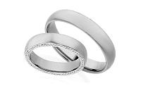 Diamantové svadobné obrúčky 0,340 ct Yasmine diamonds 4,5 mm IZOBBR006A