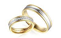 Diamantové svadobné obrúčky 0,620 ct Yasmine diamonds 5 mm IZOBBR031