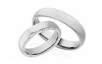 Diamantové svadobné obrúčky 0,740 ct Yasmine diamonds 4,5 mm IZOBBR028A
