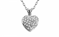 Diamantový prívesok 0,140 ct Magic Heart white KU175A