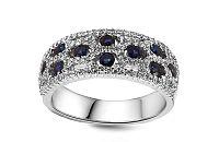 Diamantový prsteň so zafírmi Valentina KU401