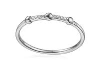 Diamantový prsteň z bieleho zlata IZBR265A
