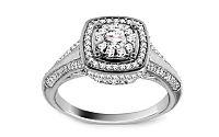 Diamantový prsteň z bieleho zlata KU439A
