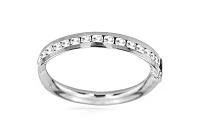 Elegantný dámsky prsteň so zirkónmi - biele zlato IZ5859A