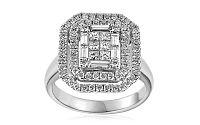 Exkluzívny zásnubný prsteň s baguette a princess diamantmi Margot IZBR311A