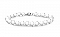 Náramok z prírodných bielych perál PE54N