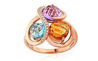 Prsteň s diamantmi a drahými kameňmi Adaline IZBR285R