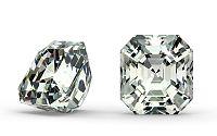 SI1 F 0.57 ct diamant certifikát GIA brus Radiant IZDI1284