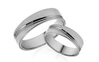 Svadobné obrúčky biele s ozdobnými líniami šírka 5 mm IZOB464A