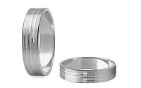 Svadobné obrúčky s diamantmi 0,020 ct šírka 4 mm STOBR208A