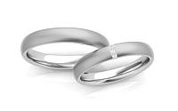 Svadobné obrúčky s diamantmi 0,030 ct šírka 4 mm STOBR261A