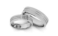 Svadobné obrúčky s diamantmi 0,030 ct šírka 5,3 mm STOBR206A