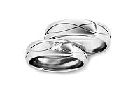 Svadobné obrúčky s diamantmi 0,060 ct šírka 5 mm STOBR278