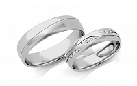 Svadobné obrúčky s diamantmi 0,105 ct šírka 5 mm STOBR287