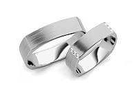 Svadobné obrúčky s diamantmi 0,120 ct šírka 5 mm STOBR193A