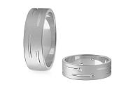 Svadobné obrúčky s diamantmi 0,120 ct šírka 6 mm STOBR189A