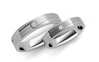 Svadobné obrúčky s diamantom 0,015 ct šírka 4 mm STOBR207A