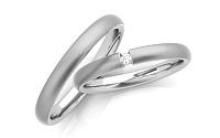 Svadobné obrúčky s diamantom 0,030 ct šírka 3 mm STOBR260A