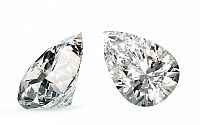 VVS1 H 0.44 ct diamant certifikát GIA brus Pear IZDI1260