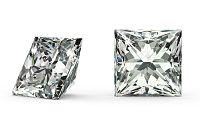 VVS2 D 0.3 ct diamant certifikát brus Princess IZDI1202