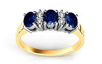 Zafírový prsteň s diamantmi Follow Emotion 0,120 ct ARBR16Y