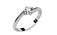 Zásnubný prsteň s diamantom 0,090 ct Lines Of Love 2 LRBR022