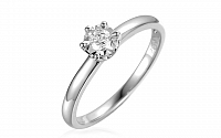 Zásnubný prsteň z bieleho zlata s diamantom Jarona IZBR312A