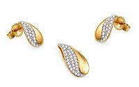 Zlatá diamantová súprava kvapky KU460S
