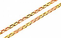 Zlatá dvojfarebná retiazka 2 mm IZ2130