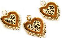 Zlatá exkluzívna súprava náušnice a prívesok Hearts of leopard 14 K zlato IZ1308