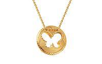 Zlatá retiazka s motýlikom IZ9499