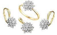 Zlatá súprava s diamantmi Caterina IZBR098S