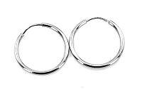 Zlaté hladké kruhy 2,5 cm IZ8738A