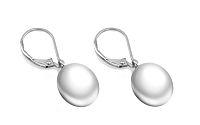 Zlaté náušnice s bielou perlou Liana PE12