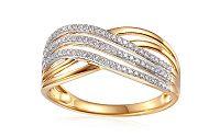 Zlatý diamantový prsteň 0.190 Amberly IZBR340