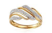 Zlatý diamantový prsteň 0.220 ct Amara IZBR345