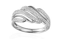 Zlatý diamantový prsteň 0.280 ct Sibel white IZBR346A