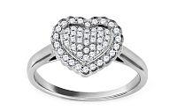 Zlatý diamantový zásnubný prsteň so srdcom Tyliana CSBRI004A