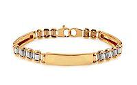 Zlatý dvojfarebný náramok IZ10988