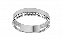 Zlatý dvojitý prsteň s guličkovou aplikáciou IZ11382A