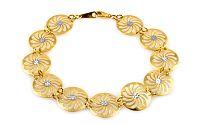 Zlatý kvetinový náramok IZ8517