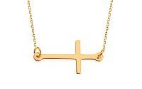 Zlatý náhrdelník Celebrity s krížikmi IZ11527